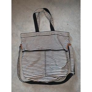 Thirty-One Retro Metro Foldover Purse Twill Stripe